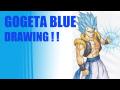 【Dragon Ball GOGITA BULE DRAWING】絵本作家がゴジータブルーを描いてみた!