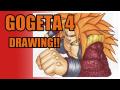【Dragon Ball GOGETA4 Drawing】絵本作家がゴジータ4を描いてみた!